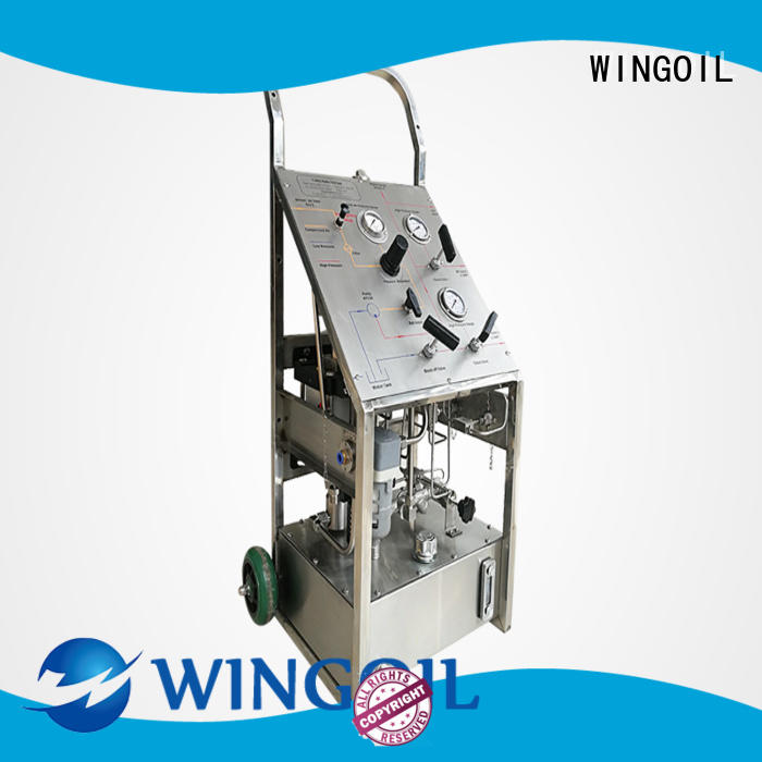 Wingoil portable hydrostatic test pump widely used for onshore