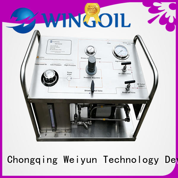 Wingoil electric hydrostatic test pump infinitely For Oil Industry