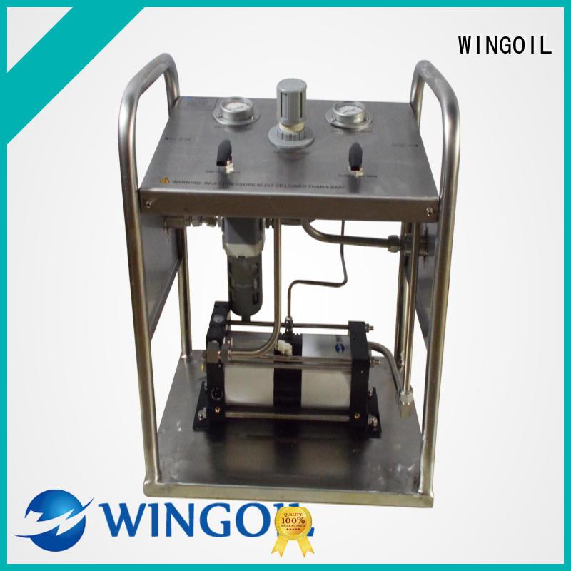 Wingoil hydrostatic test for pressure vessel Supply for offshore