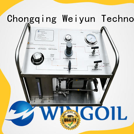 Wingoil Safety electric hydrostatic test pump in high-pressure for offshore