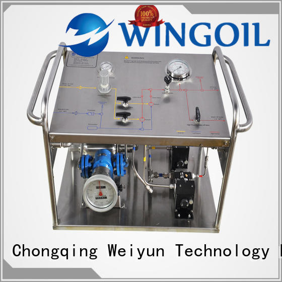 reed hydrostatic test pump in high-pressure for onshore