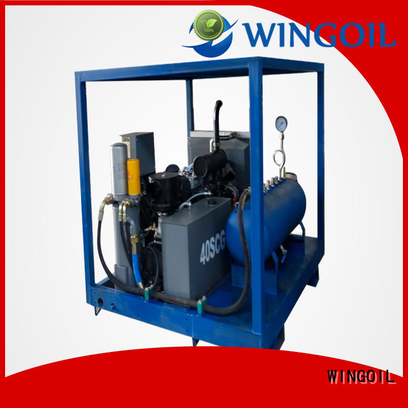 Wingoil high pressure pipe pressure testing equipment With Flow Meter For Gas Industry