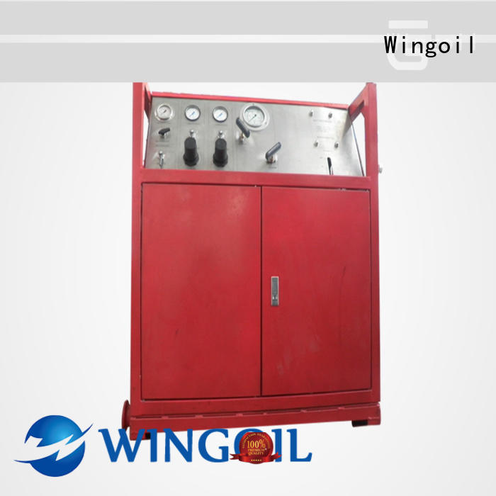 Wingoil valve pressure testing equipment widely used for onshore