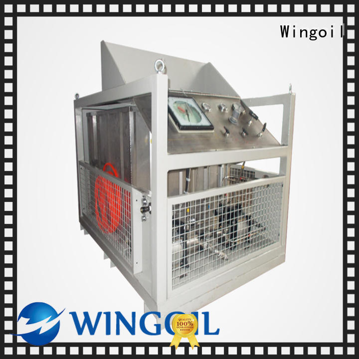 Wingoil Safety hose pressure testing equipment With Flow Meter For Oil Industry