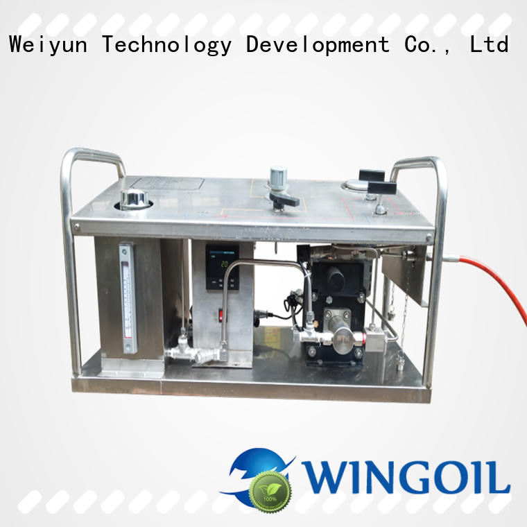 Wingoil electric hydrostatic test pump in high-pressure for offshore