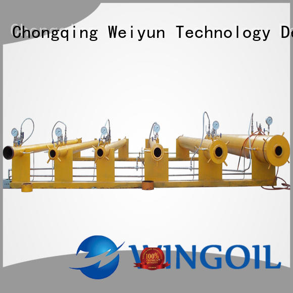Safety high pressure hose testing equipment for offshore
