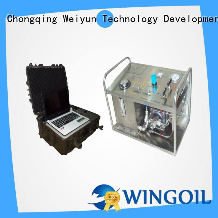 Wingoil portable hydrostatic test pump widely used for offshore