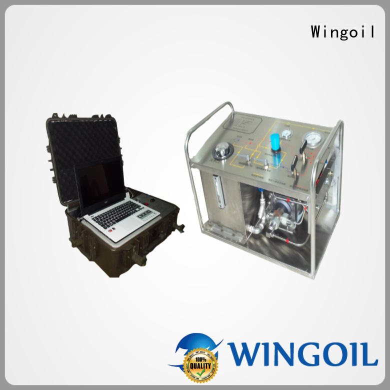 Wingoil electric hydrostatic test pump widely used For Gas Industry
