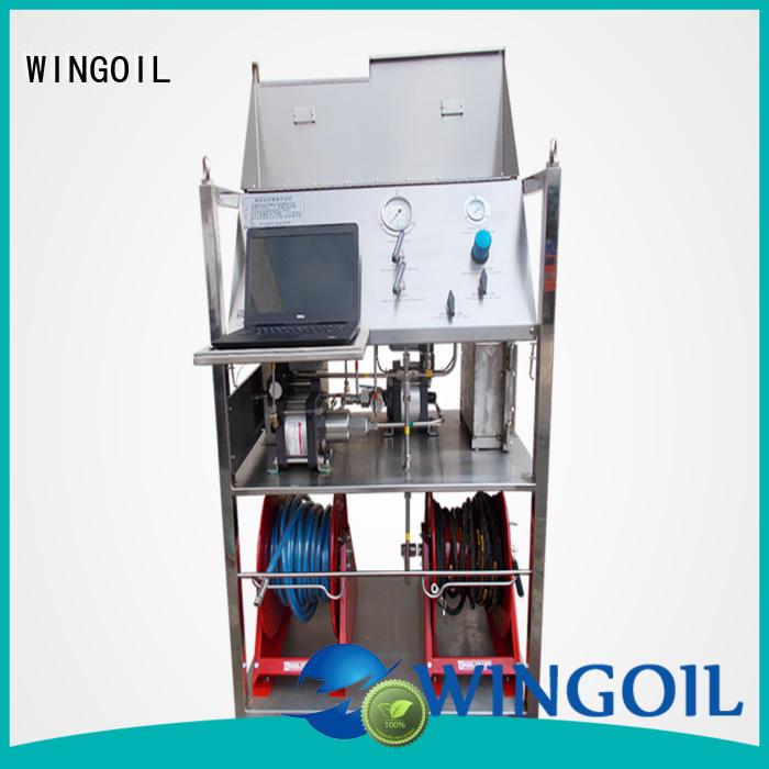 Wingoil Hydro duct pressure testing equipment infinitely for onshore