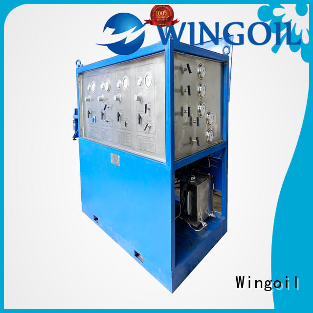Wingoil pneumatic robin test equipment in high-pressure for offshore