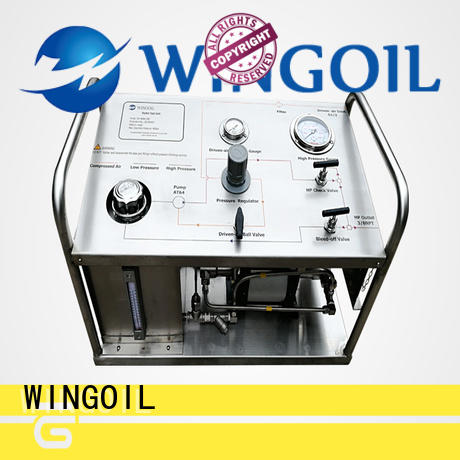 Wingoil test hand pump in high-pressure for onshore