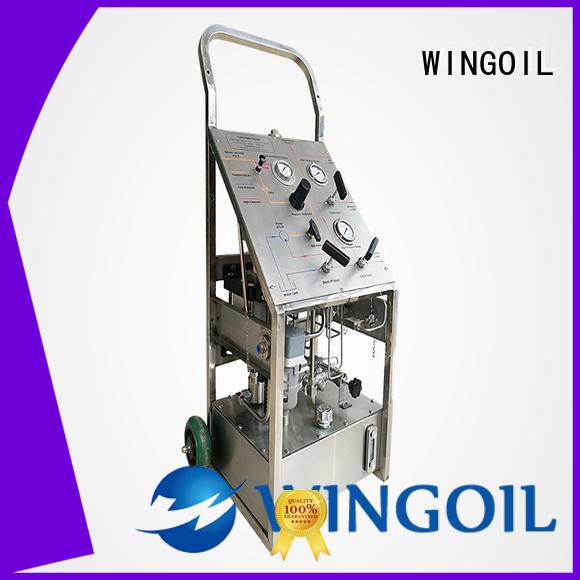 hydrostatic pressure test pump in high-pressure for onshore