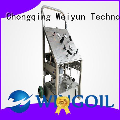 hydrostatic test pump infinitely for onshore