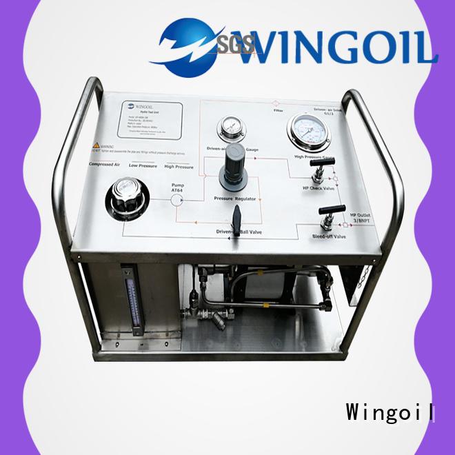 Wingoil hydrostatic test pump infinitely for offshore