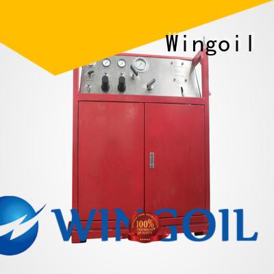 Wingoil pipe pressure testing equipment infinitely for offshore