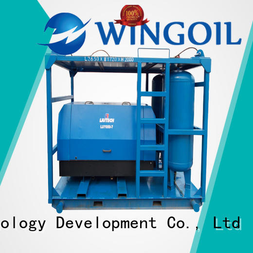Wingoil gas pressure test in high-pressure for onshore