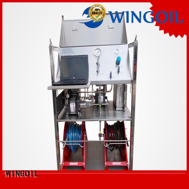 Wingoil duct pressure testing equipment in high-pressure for onshore