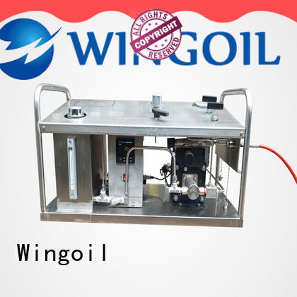 Wingoil high pressure pump hydrostatic test for business for offshore