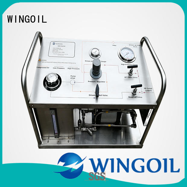 Wingoil Safety hydrostatic pump in high-pressure for onshore