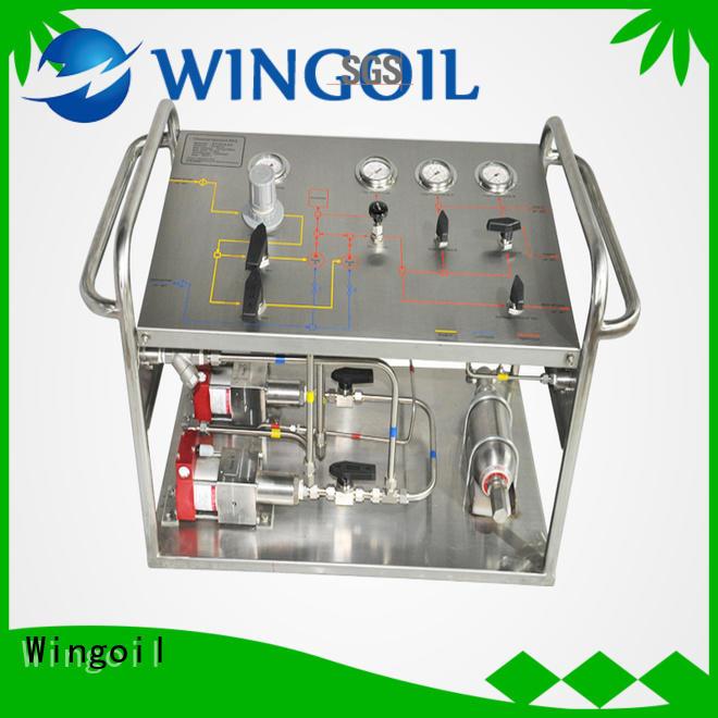 Wingoil professional hydrostatic pressure test pump infinitely for onshore