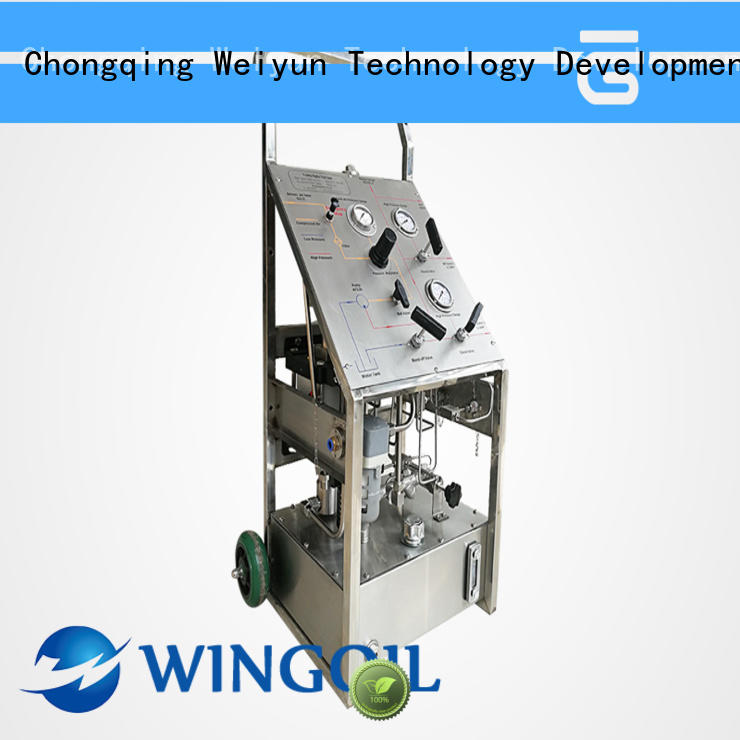 professional hydrostatic test pump widely used For Gas Industry