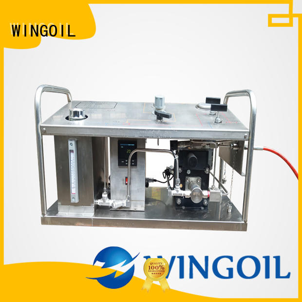 Wingoil Safety hydrostatic test pump widely used For Gas Industry
