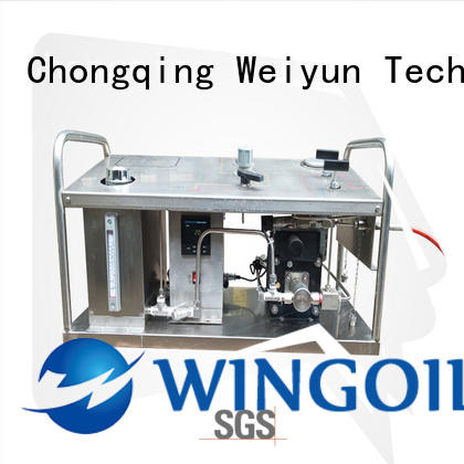Wingoil hydrostatic electric hydrostatic test pump infinitely for offshore