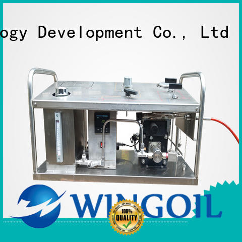 Wingoil hydrostatic test pump in high-pressure For Gas Industry