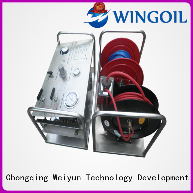 Safety hydrostatic pressure test pump widely used For Oil Industry