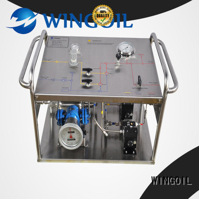 Wingoil pump pressure test in high-pressure For Gas Industry