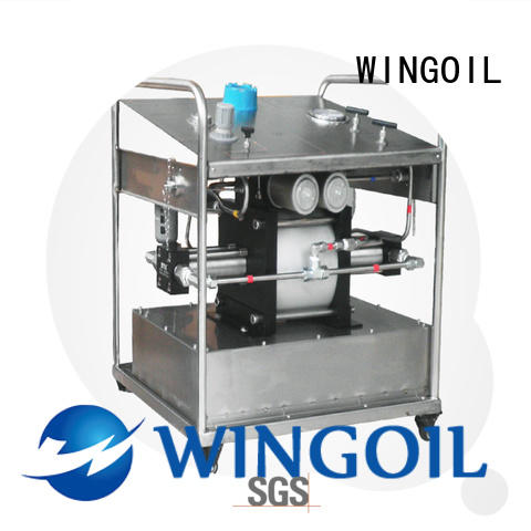 Wingoil pump hydrotest in high-pressure for offshore