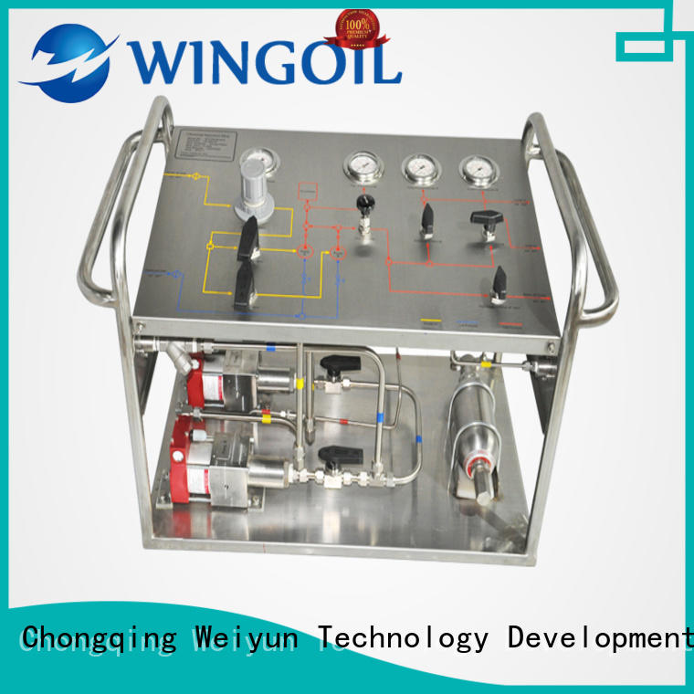 Wingoil hydrostatic electric hydrostatic test pump infinitely for onshore