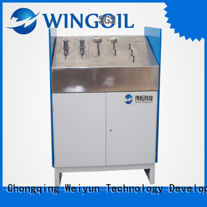 Wingoil Flow Control high pressure hose testing equipment in high-pressure for onshore