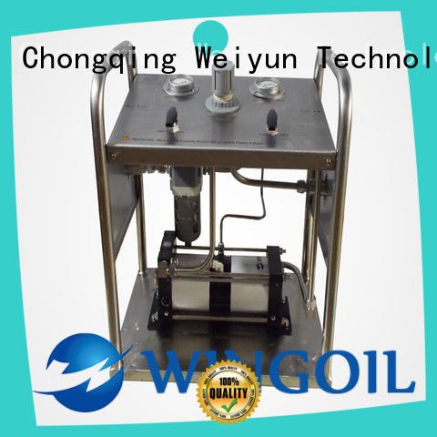 Wingoil hydrostatic pump in high-pressure for onshore