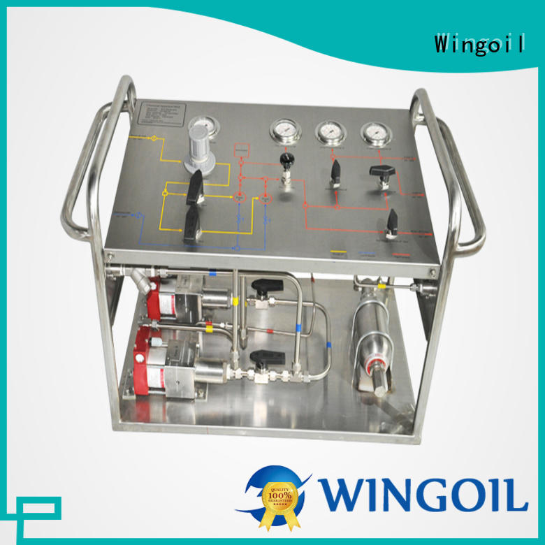 Wingoil Safety hydrostatic water test pump infinitely For Oil Industry