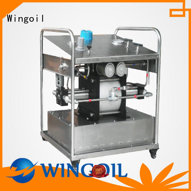 Wingoil hydrostatic test pump rental for business For Gas Industry