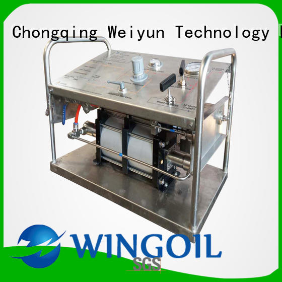 high pressure hydrostatic test pump widely used For Gas Industry