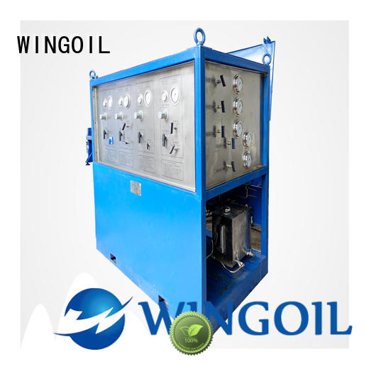 Wingoil tube pressure testing equipment With Flow Meter for offshore