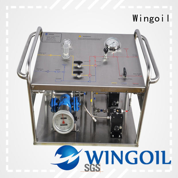 Wingoil hydrostatic pressure test pump widely used For Gas Industry
