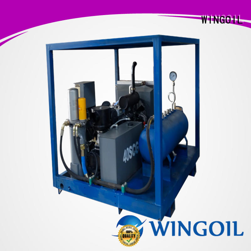 Wingoil hydrostatic pressure test equipment catalog With Flow Meter For Gas Industry