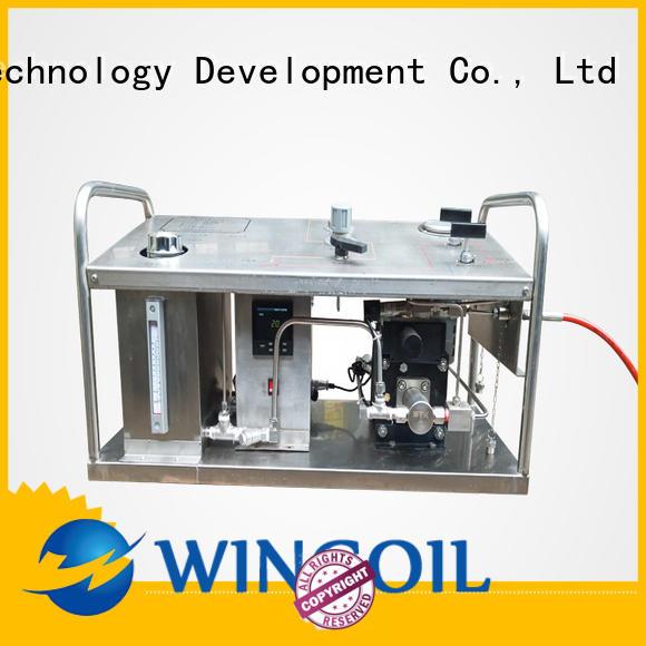 Wingoil baker test pump infinitely for onshore