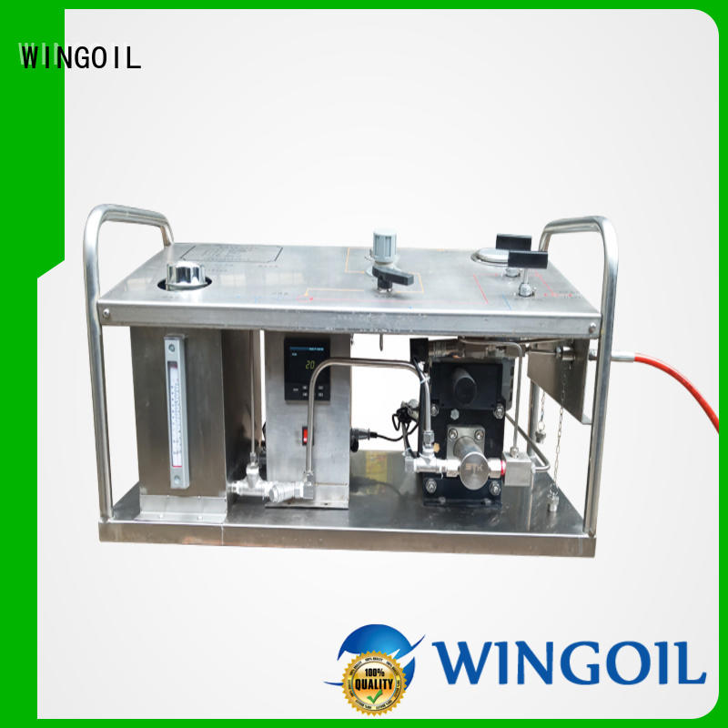 high pressure hydrostatic test hand pump for onshore