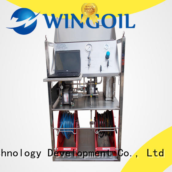 Wingoil hydrostatic test procedure for pressure vessel With Flow Meter for onshore