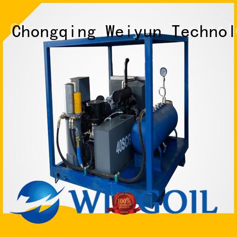 Wingoil burst pressure test equipment infinitely for onshore
