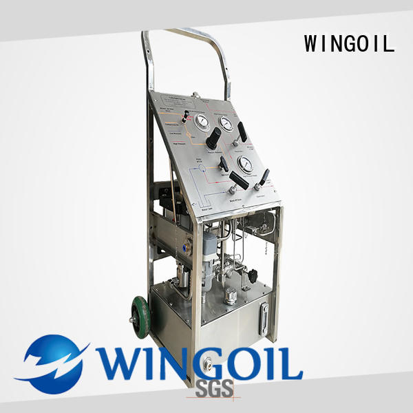 Wingoil hydrotesting pump in high-pressure for offshore