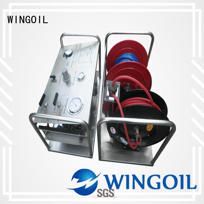 Wingoil Best hydrostatic water line testing infinitely for onshore