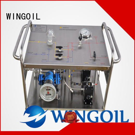Wingoil professional hydrostatic test pump infinitely for onshore