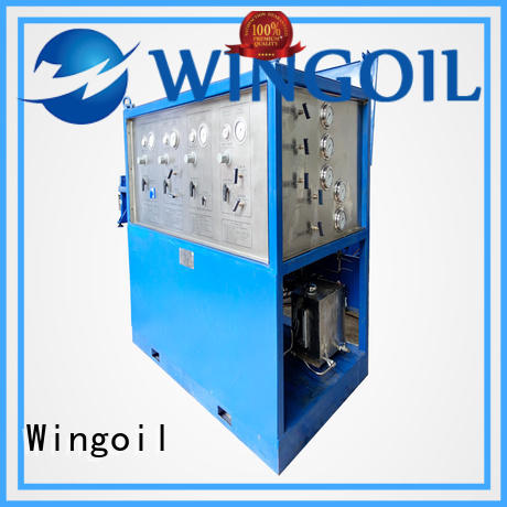 Wingoil pneumatic how to do a pressure test With Flow Meter for offshore