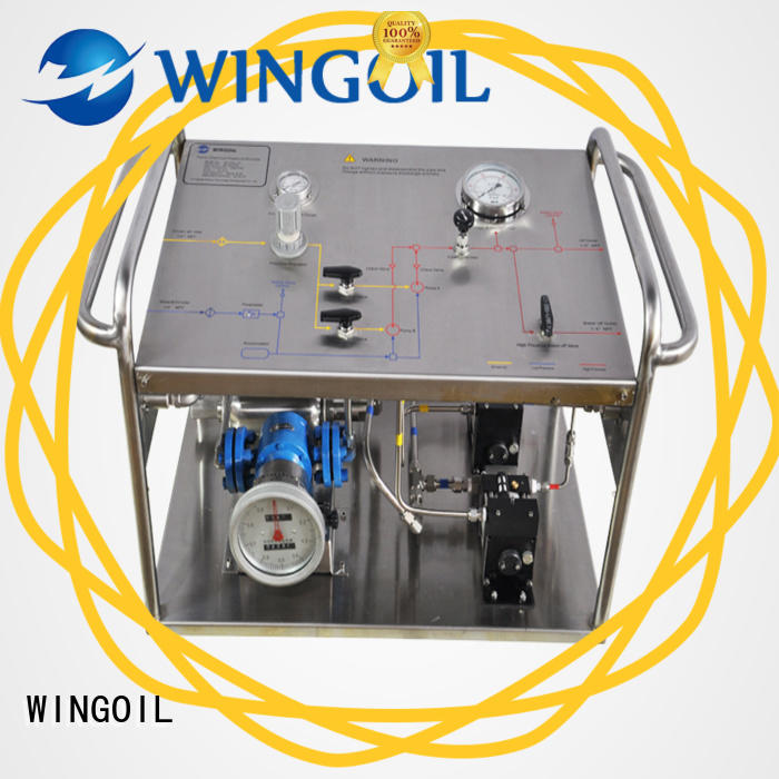 Wingoil water pressure testing pump infinitely For Oil Industry