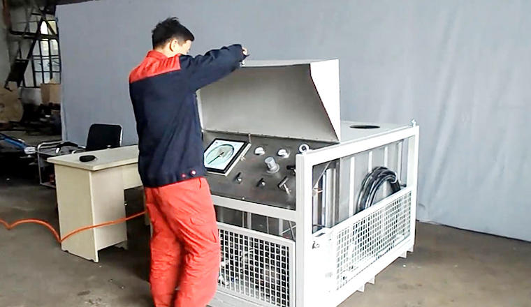 High-flow high pressure testing machine with PC & Chart recorder